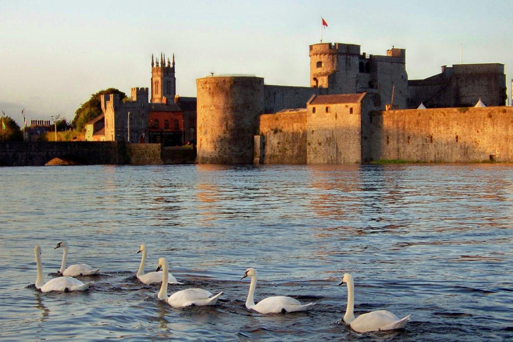 King John's Castle Limerick City at sunset